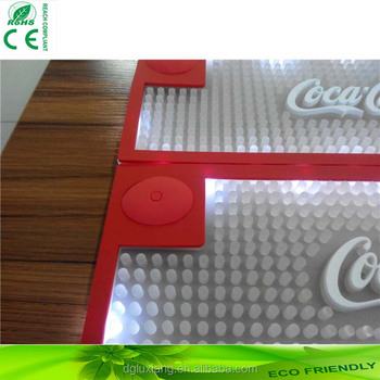 2016 hot sell LED light bar mat, best quality PVC led bar mat with factory price