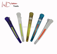 6x New clawm clip with rubber inside Shark Hair Long Section Clip Salon use cutting setting Hairdressing Clip