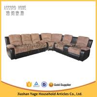 New classic style fabric+PVC covered corner sofa