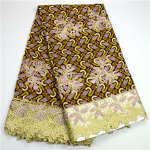 Negerian Women Wholesale Wax Lace Ankara African Holland Wax Lace Fabric 0828