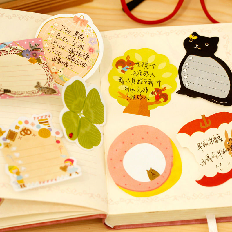 A007 Korean new stock recycled sticky memo pad notes for advertising gift