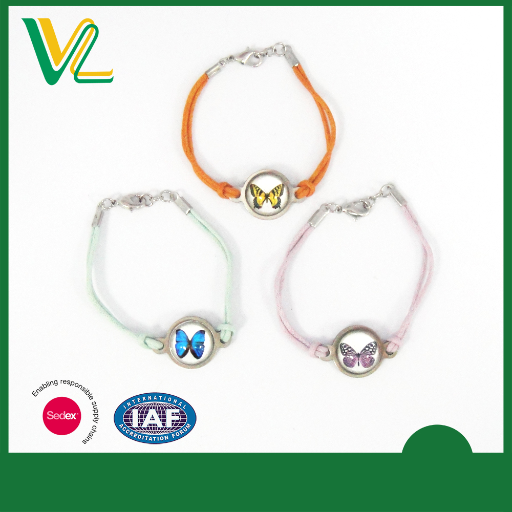 Manufacturer high quality Iron with sticker Anti-nickel Glass Covering Souvenir Bangle Bracelet