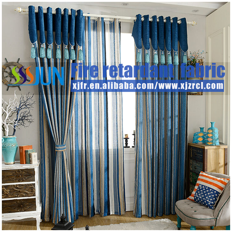 6 years supplier Manufacturer of curtains and fire retardant curtain fabrics 100% export Leading Supplier