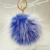 Cheap fake fox fur ball keychain faux fur pom