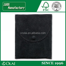 8*12cm Jewelry Packaging Suede Drawstring Pouch with silver logo,microfiber pouch with drawstring