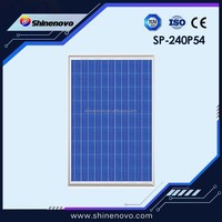 CE / TUV approved poly crystalline solar cells 240W for solar panel