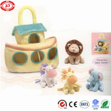Convenient carry handle bag put plush tiny soft toy set