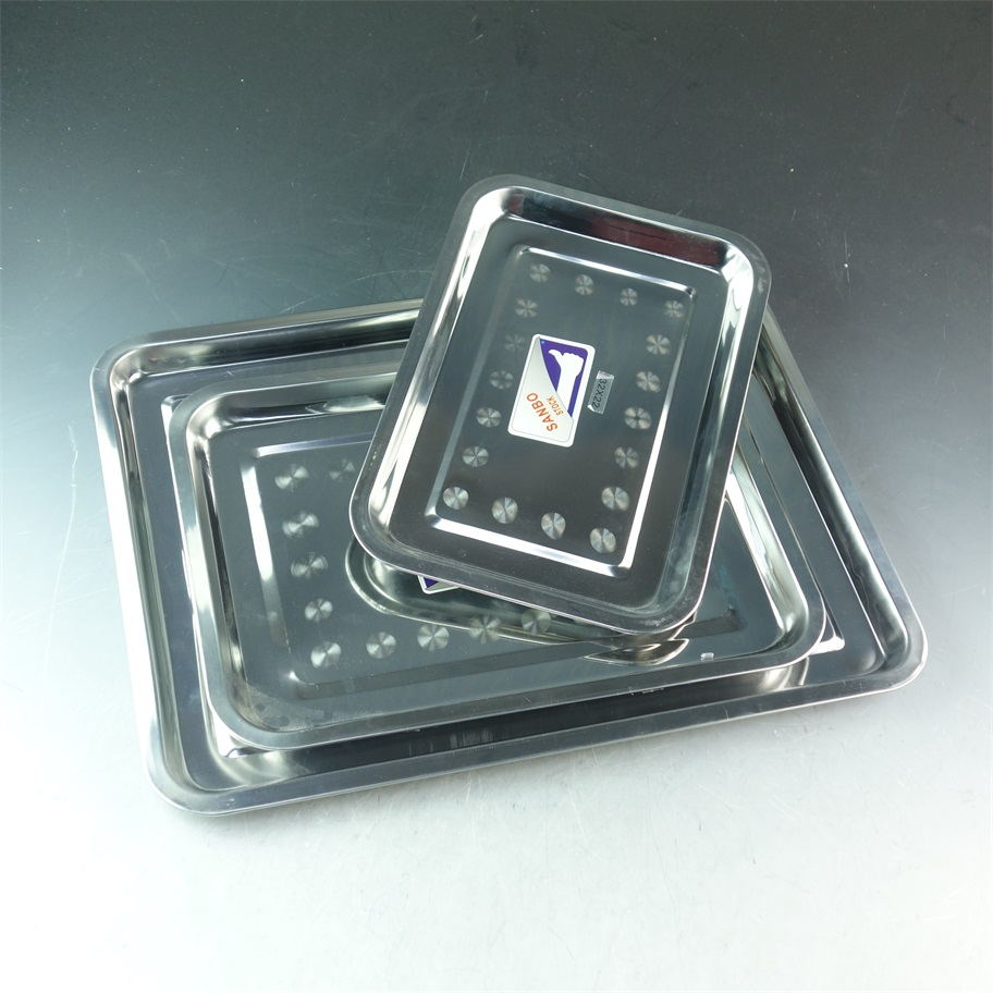 Rectangular Stainless Steel serving tray/food plate