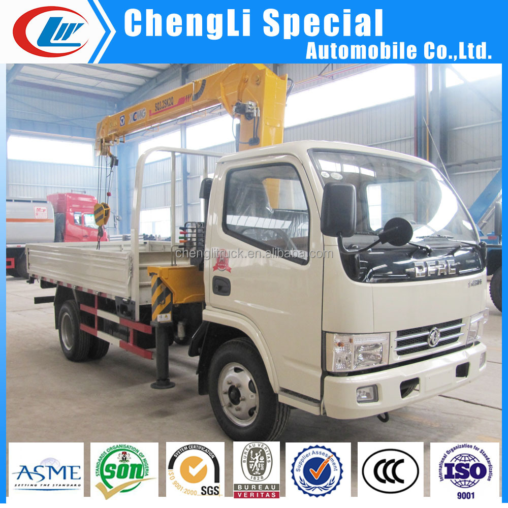 2 ton 3ton Truck With Crane Small Dongfeng Cargo Crane Truck