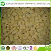 Fresh material high quality IQF frozen baby corn cut