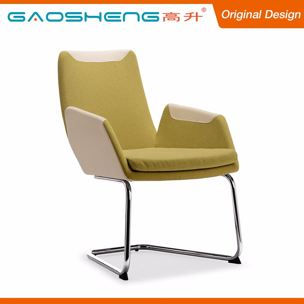 National Standard PU Back Side Grace Fabric Padded Cheap Chair