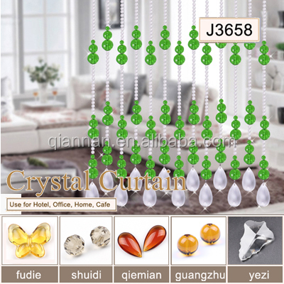 pujiang crystal glass manufacturer Various shapes string crystal curtain decorative string curtain wholesale