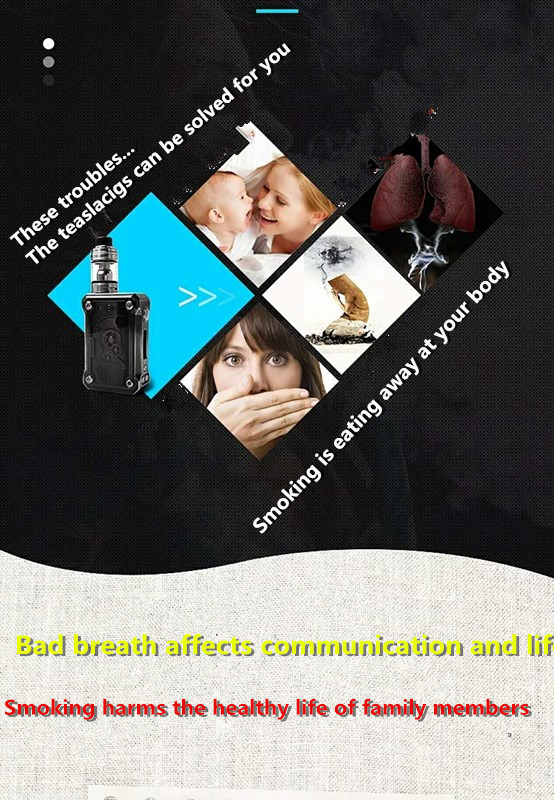 Teslacigs 220w steam punk 220w Temperature control box mod High power electronic cigarette device