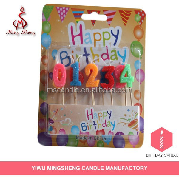 Manufacturer supply 10pc birthday number candle