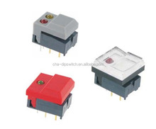 LED Pushbutton Switches Illuminated square on-off mini push button switch