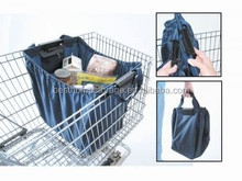 Easy carry and supermarket shopping cart bag