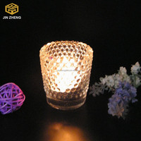 Little pearl glass candle holder , candle jars wholesale oil lamp