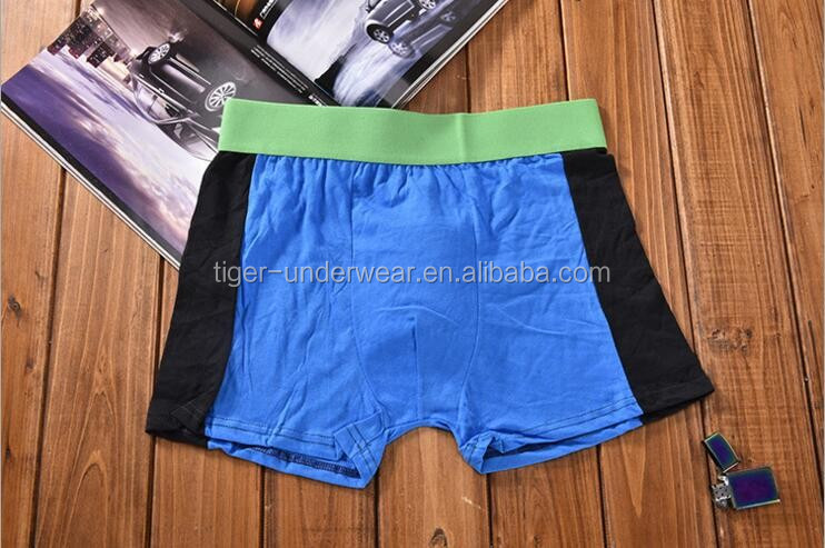 100% Cotton breathable boxers mens underwear wholesale from china