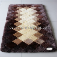 Natural wool material Carpet made of lambskin fur Rugs on sale