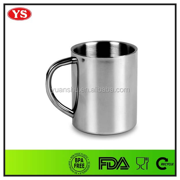 220ml food grade double wall stainless steel espresso coffee cups and saucers