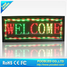 semi outdoor led scrolling advertising billboard