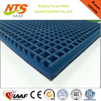 Natural rubber synthetic running track for running