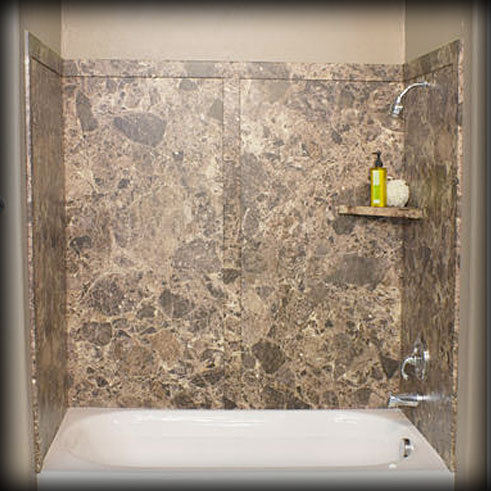 Shower wall panels bath