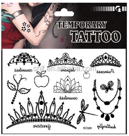 high quality jewelry temporary tattoo sticker for kids