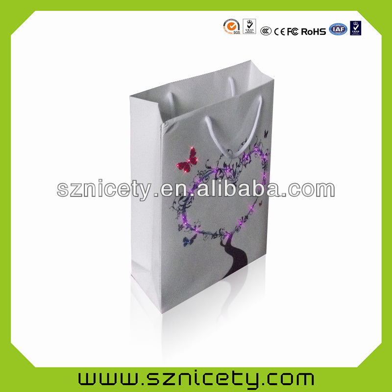 2015 newest LED paper bag for promotion gift