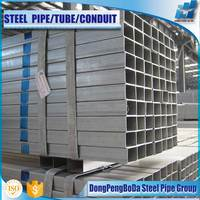 Chinese 8 inch thin wall mild welded galvanized square steel pipe for sale
