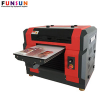 Funsunjet a4 uv flatbed printer nail sticker printer phone cover printing machine