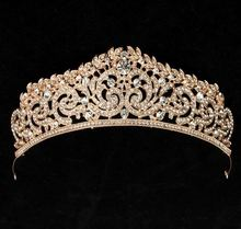 Fashion crown beauty pageant shaped wedding rings crown for sale