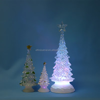 wholesales christmas craft supplies artificial small led light christmas tree with snow effect