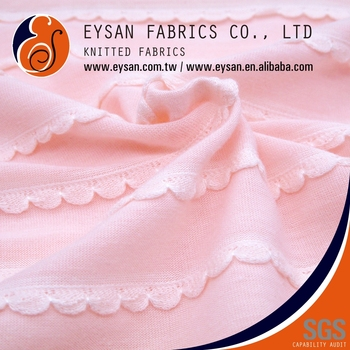 EYSAN For Dress Soft Polyester Rayon Jacquard Knitted Fabric