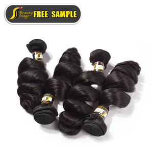 virgin human hair weft loose wave brazilian hair virgin extension no tangle no shed