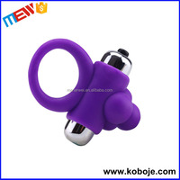 High Grade Sillicone Bullet Vibrator Sex Toy Silicone Penis Ring