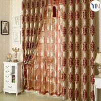 luxury jacquard blackout curtain fabric for window curtain, jacquard sheer curtain, flame retardant fabric wholesale