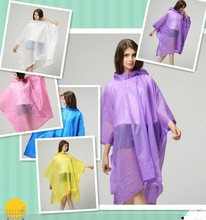 Adult PE stock rain poncho, wholesales raincoats for travelling,surfing,out door game