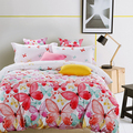 90gsm 100% polyester butterfly design bedding