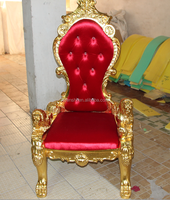 Cheap king throne chair/High back wedding king chair /King lion chair B004#