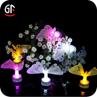 Wedding Decoration Eye-catching Led Light Up Fiber Optic Light Butterfly Toy