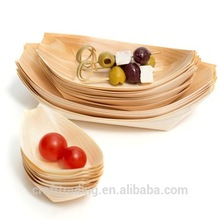 Disposable Pine Wooden Serving Plate/Bowl/Tray/Boat