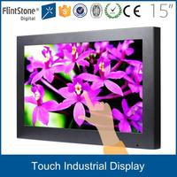 "FlintStone 15"" 19"" 22"" 32"" 42"" 55"" h-d-m-i touch panel dc 12v adapter lcd advertising display screen tft monitor"