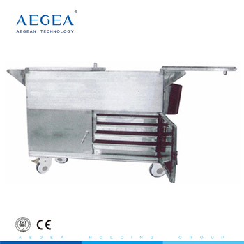 AG-SS035C With heated economic durable stainless steel hospital food trolleys carts