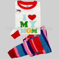 New design Customized cotton embroidered kids clothes free shipping