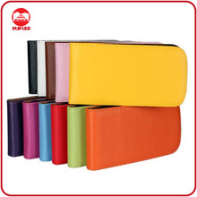 RF Manufacturer Wholesale Vertical Magnet Premium Plain Leather Flip Cell Phone Back Cover Case for Samsung Galaxy Grand Duo