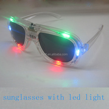 Nightclub bar Carnival Christmas party supplies Light up glasses LED 6 lights shutter Sunglasses