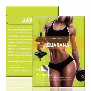 100% natural organic vitamin b12 and guarana slimming patches oem