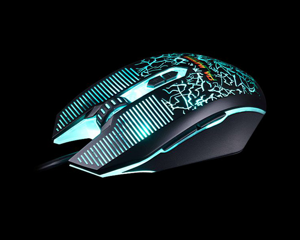 Hot Sale Cheap Free Drivers 6D USB Optical Gaming Mouse GM-801OEM/ODM/Customization Supported