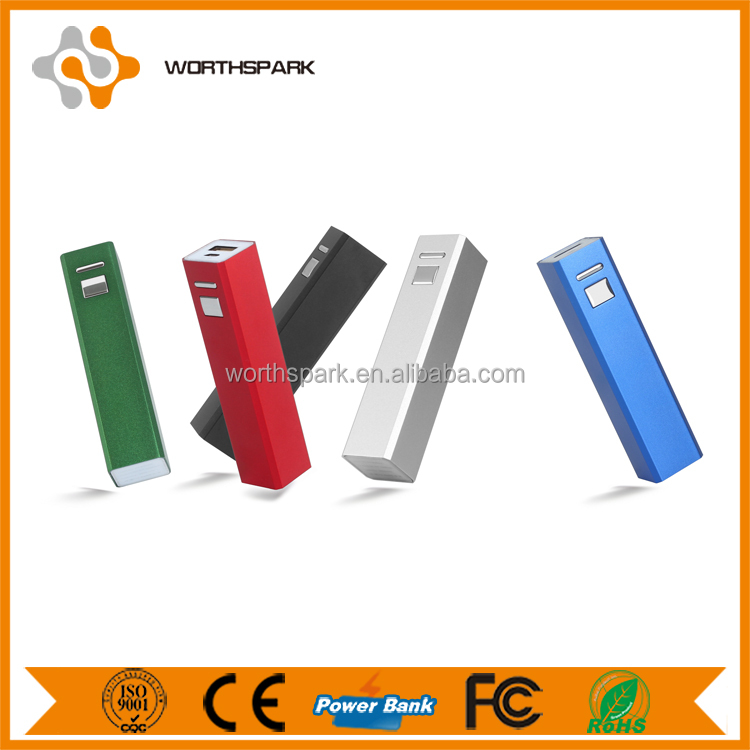 Fashion design mini power bank 2600mAh with custom logo